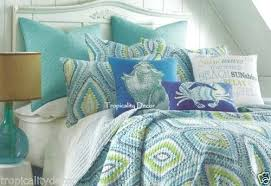 Coastal Living Quilt Bedding Coastal Quilts Bedding Cozumel ... & ... Coastal Collection Quilt Bedding Cabana Coastal Quilt Set 3 Pc Full  Queen Aqua Navy Lime Tropical ... Adamdwight.com