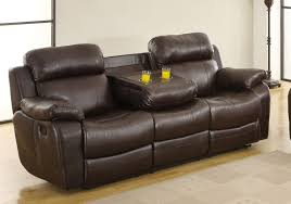 recliner chairs with cup holder. Simple Cup Homelegance Marille Sofa Recliner With Drop Cup Holder  Dark Brown  Bonded Leather Match With Chairs A