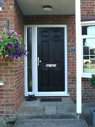 front door with side panel 6 panel composite front door in black with a side panel front door with side panel