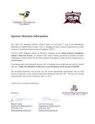 Cover Letter Sponsorship Sponsorship Letter For Charity Event Sample Cover Letter