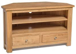 brilliant waverly oak 2 drawer corner tv stand unit hallowood oak tv stands plan