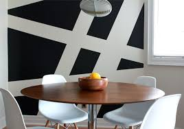 design ideas large scale dining room striped cool painting ideas that turn walls into a marvelous