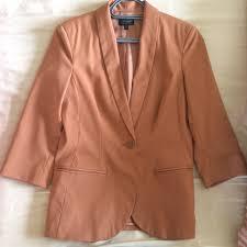 Light Orange Blazer Topshop 10 Light Orange Brown Rust Blazer 3 4