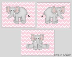 details about elephant nursery prints wall art baby chevron room decor blue pink yellow purple