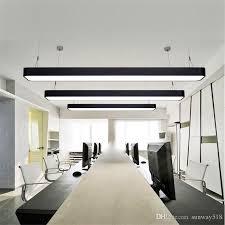 office pendant light. Hanging Wire Aluminum Ceiling Lamp Office 1.2m Bar Lights Rectangular Pendant Light Modern Led Chandelier Fixture For Green DHgate.com