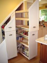 under stairs kitchen storage
