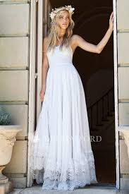 <b>Elegant Spaghetti Strap</b> Floor Length <b>Chiffon</b> Lace Wedding Dress ...