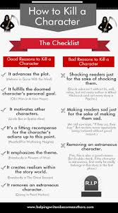 17 best ideas about writing tips writers need to kill off a character in your nanowrimo novel before you axe off