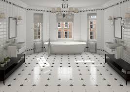 Black And White Bathroom Black And White Bathroom Tile Home Design Ideas