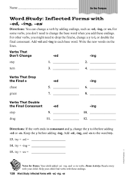 Word Study: Inflected Forms With ed, ing, es Worksheet for 1st ...