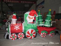 inflatable christmas train with the tree inflatable christmas toys christmas inflatables outdoor decoration in christmas from home garden on