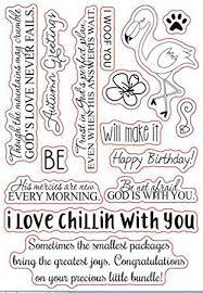 Arriettycraft Englische Sprüche Gefühle Phrase Hund Blumen Flamingo