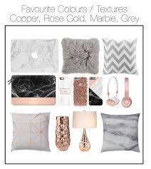 rose gold bedroom decor