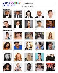 the quiz sheet has the top 10 actors actresseusicians