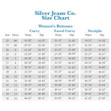 Womens Silver Jeans Size Chart The Best Style Jeans