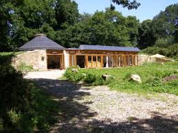 Grand designs ground home in Brittany. This house is completely made out of  recycled and