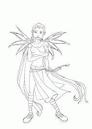 Small Picture Anime Witches Coloring Pages Free Anime Witch Color Girl Coloring