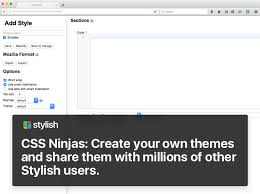 stylish page stylish custom themes for any website add ons for firefox
