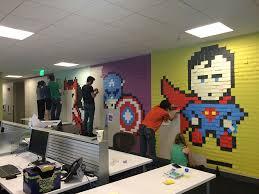 creative office walls. Fine Office Officewallpostitartsuperheroesbenbrucker For Creative Office Walls F