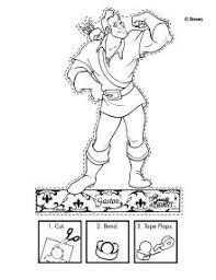 Small Picture Gaston Puppet Disneys Beauty and the Beast Printables Coloring