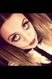 b creepy doll make up by lucy lonsdale