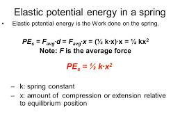 29 elastic potential energy