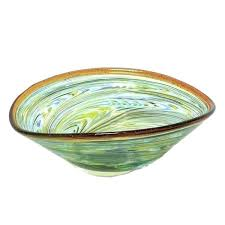 decorative glass bowl wonderful bowls fillers yellow d