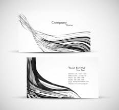 Abstract Wave Colorful Business Card Presentation Set White Vector