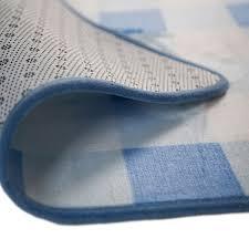 children s nursery rug gingham blue