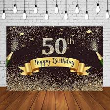 Make sure your 50th birthday party highlights the honoree with the following ideas. Adults Birthday Party Backdrop 40 Years Old Woman Man 50th Birthday Photography Studio Background Black Golden Wall Decorations Background Aliexpress