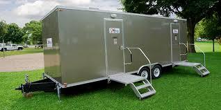 bathroom trailers. Plain Trailers Onyx Elite Luxury Restroom Trailer Exterior Shot Of In A Park To Bathroom Trailers E