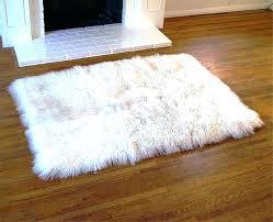 fake fur rug gray faux fur rug fake sheepskin medium size of area with white prepare fake fur rug