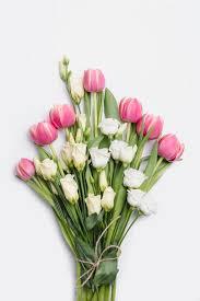 pretty flower bouquet on white free photo