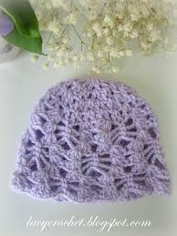 Crochet Newborn Hat Pattern Fascinating Lacy Crochet Lacy Stitch Newborn Hat Free Crochet Pattern
