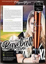 Baseball Brochure Template Download Baseball V5 2018 Flyer Template Softarchive