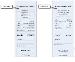 Credit Card Receipts Template Refund Credit Card Receipt Report
