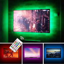 Light Smart Tv Usb Powered Led Strip Lights Tv Backlights Kit For 50 To 55 Inch Tv Sony Lg Samsung Monitor Smart Tv Wall Mount Stand Work Space Color Changing Led