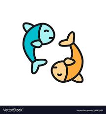 chinese fish puffer fish koi fish flat