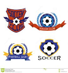 Soccer Logo Maker Set Of Soccer Football Badge Logo Design Templates