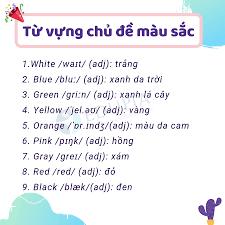 Học tiếng Anh về màu sắc với 20+ từ vựng cơ bản
