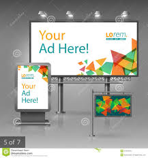 Design A Billboard Online Free Outdoor Advertising Design Stock Vector Illustration Of