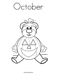 Small Picture October Coloring Page Twisty Noodle
