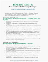 Food And Beverage Resume For Everyone Looking For A