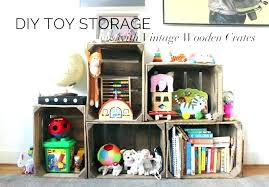 toy organizer wood wooden crate storage ikea book and o