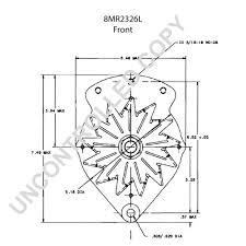 8mr2326l alternator product details prestolite leece neville 8mr2326l front dim drawing autocar alternator wiring diagram