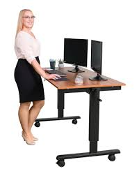 quick view 60 crank adjule height sit to stand up desk