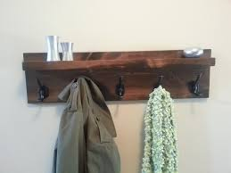 Coat Rack Etsy Coastal Oak Designs Rustic Modern Hanging Coat Rack Built For You 2