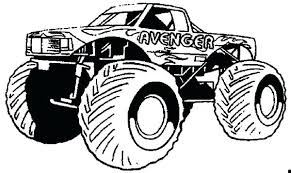 Monster Truck Transportation Printable Coloring Pages Coloring Page