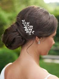 unicra bride wedding crystal hair