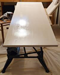 Diy Desk How To Stain Wood With Water Based Stain Our Diy Desks Surface